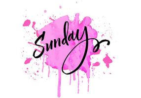 Sunday Lettering Watercolor