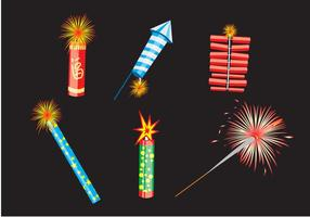 Various Fire Crackers Vector