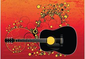 【吉他图案】35套 Illustrator 吉他素材下载,吉他卡通图推荐款
