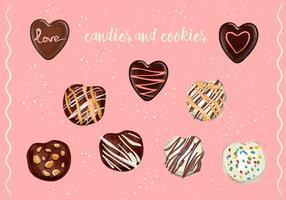 Vector Candies And Cookies