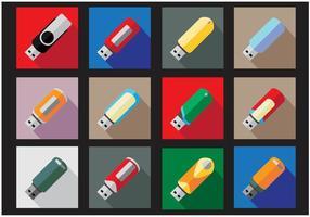 【usb icon】32套 Illustrator usb 图示下载,随身碟图示推荐款