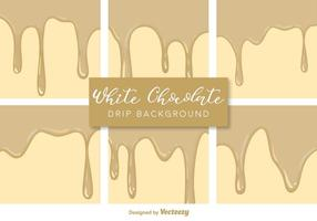 Vector White Chocolate Drips Backgrounds