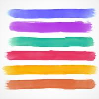 watercolor brush stroke set hand painted