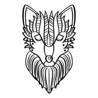 【狼卡通图】38套 Illustrator 狼图案下载,狼素材推荐款