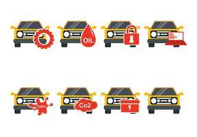Yellow Car Auto Body Icon Vectors