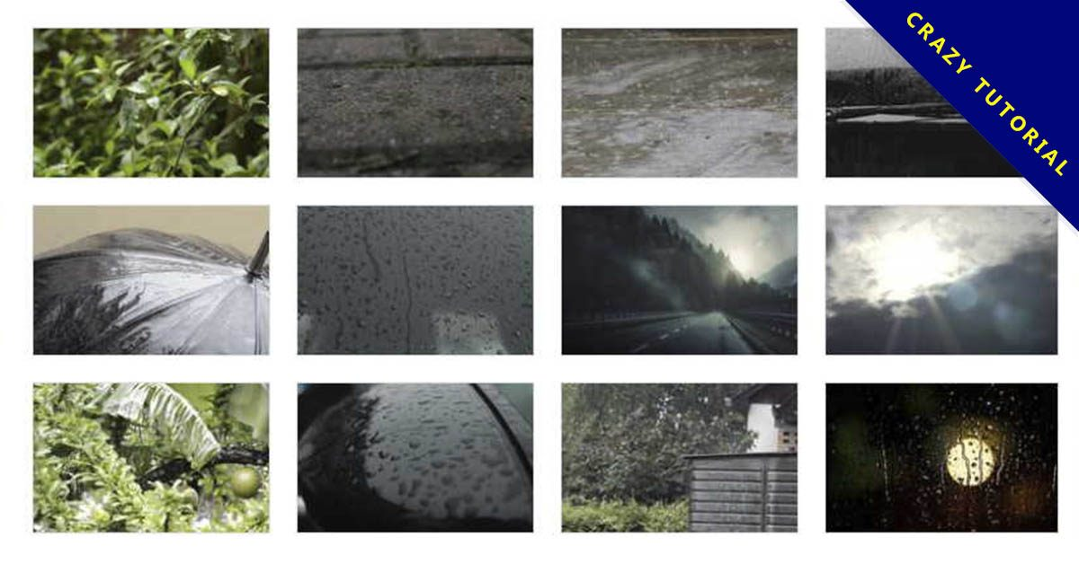 【下雨影片素材】精細的36款下雨影片素材下載,雨滴特效的高清格式
