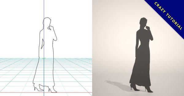 【3D人物剪影】3DMAX精選20款3D人物剪影下載,人物剪影免費推薦款