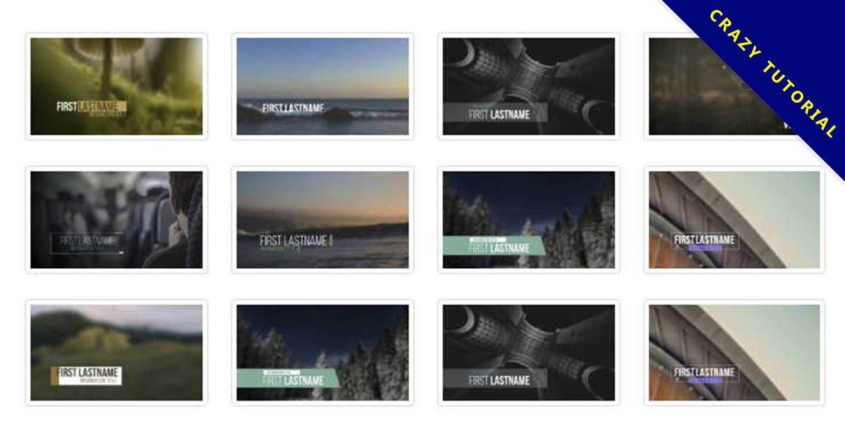 【影片標題素材】精美的45款影片標題素材下載,標題動畫範本的素材格式