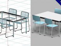 【桌椅模型】3DMAX精選13款桌椅模型下載,桌椅素材免費推薦款
