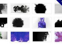 【水墨影片素材】高質感的47款水墨影片素材下載,墨水背景特效的MPG格式