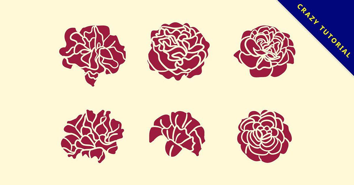 【玫瑰圖騰】精選30款玫瑰圖騰下載,玫瑰圖免費推薦款