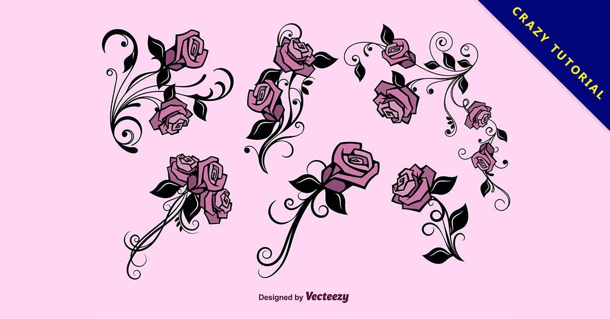 【玫瑰卡通】精選32款玫瑰卡通下載,玫瑰插圖免費推薦款
