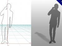 【3D男生剪影】3DMAX精選20款3D男生剪影下載,男生剪影免費推薦款
