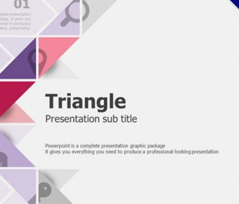 三角形科技風格PPT模板下載,商業報告首選