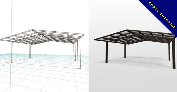 【車庫雨遮】3DMAX精選10款車庫雨遮下載,遮雨棚模型免費推薦款