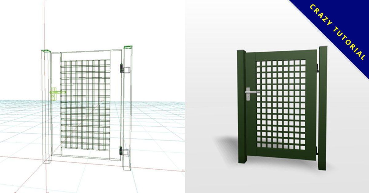 【3D門模塊】3DMAX精選12款門模型下載,單雙開門模型免費推薦款