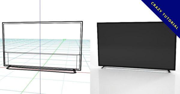 【電視模型】3DMAX精選11款電視模型下載,電視素材免費推薦款