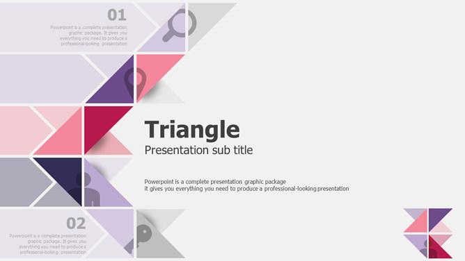 创意三角形主题设计PPT模板