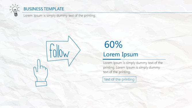 创意可爱风格的手绘PPT模板免费下载