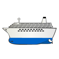 かわいい船のライン線