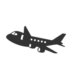 飛行機に乗ったウサギキャラ