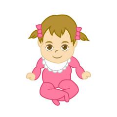 ハイハイする女の子赤ちゃん