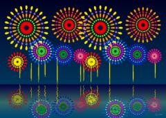 夜空いっぱいの花火