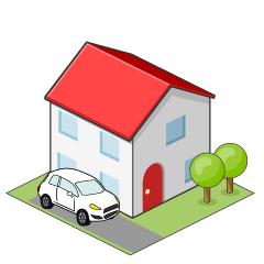 【房子素材】精选10款房子素材下载,可爱房子图案免费推荐款