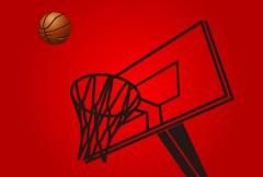 バスケットボールとゴール