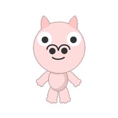 可愛い豚の顔