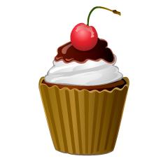 ホイップクリームのカップケーキ