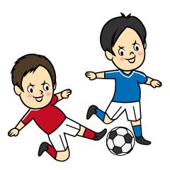 サッカー選手似顔絵