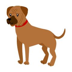 カラフルな犬足跡ライン線