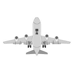 旅客機のライン線