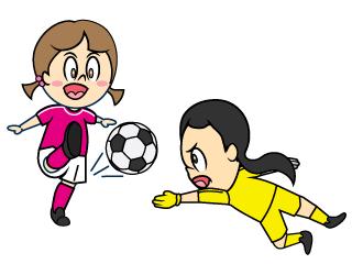 サッカーボールのライン線