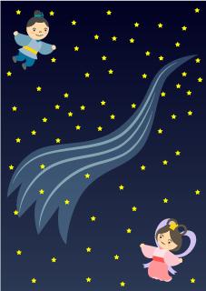 星空の織姫と彦星