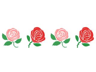 赤いバラ枠