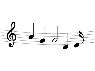 楽譜音符のライン線
