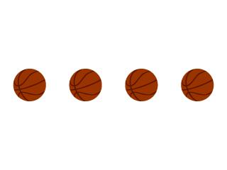 バスケットボールのライン線