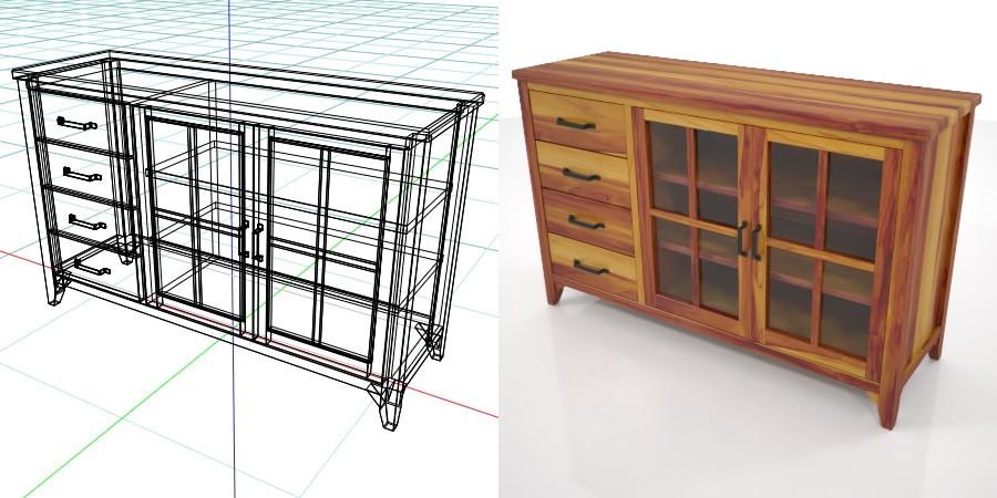 【柜子模型】3DMAX精选15款柜子模型下载,柜子模块免费推荐款