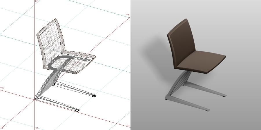 formZ 3D インテリア 家具 椅子 ダイニングチェア interior furniture dining chair 食堂