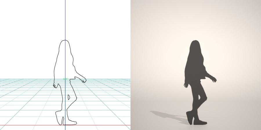 formZ 3D シルエット silhouette 子供 child 少女 girl デニムジャケット denim jacket