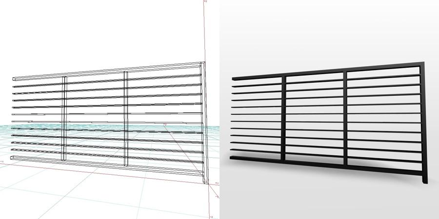 【栅栏模型】3DMAX精选14款栅栏模型下载,栅栏模块免费推荐款
