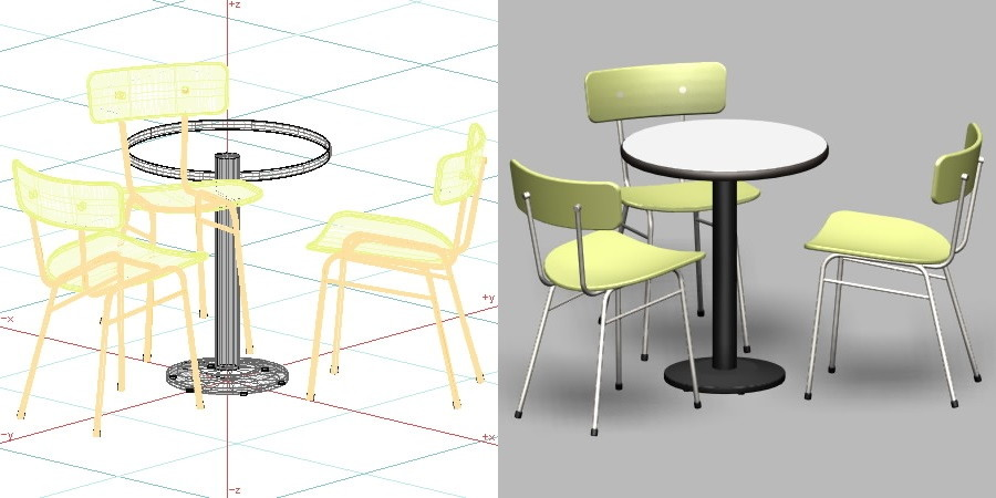 【桌椅模型】3DMAX精选13款桌椅模型下载,桌椅素材免费推荐款