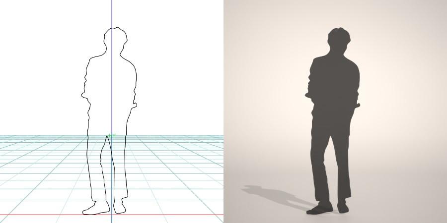 【3D男生剪影】3DMAX精选20款3D男生剪影下载,男生剪影免费推荐款
