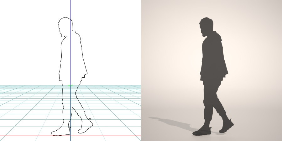 formZ 3D シルエット silhouette 男性 man スニーカー sneakers