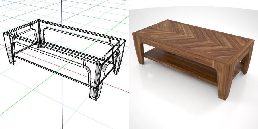 【茶几模型】3DMAX精选12款茶几模型下载,3D木桌茶几免费推荐款