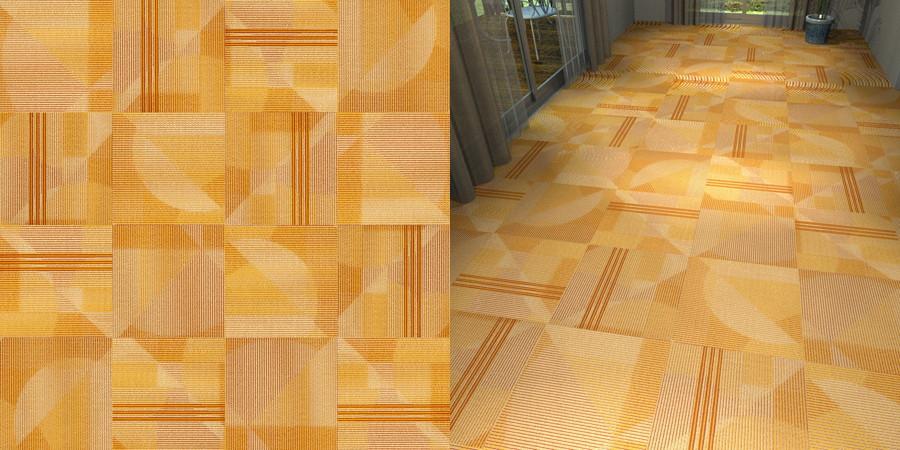 CAD,フリーデータ,2D,テクスチャー,texture,JPEG,タイルカーペット,tile,carpet,ストライプ,stripe,橙色,オレンジ色,orange,市松貼り,サンゲツ,カーペットタイル,sangetsu,DT3903
