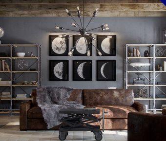 【工業風客廳】32款工業風客廳設計照片實例,客廳裝潢推薦