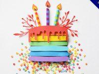 生日蛋糕圖案下載,19套精緻的生日蛋糕圖案設計圖示推薦